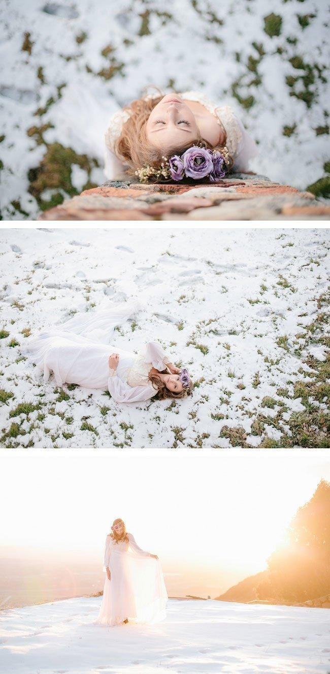 bohemian winter bride11 braut im schnee
