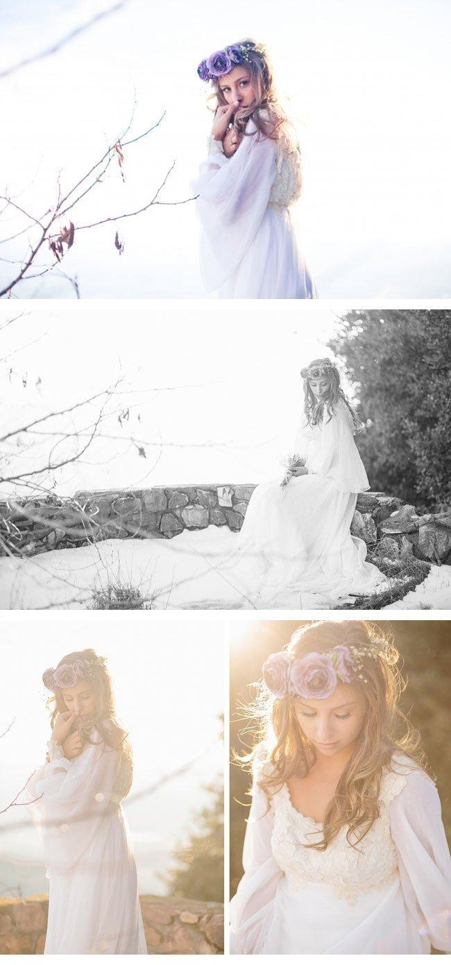 bohemian winter bride2 haarkranz