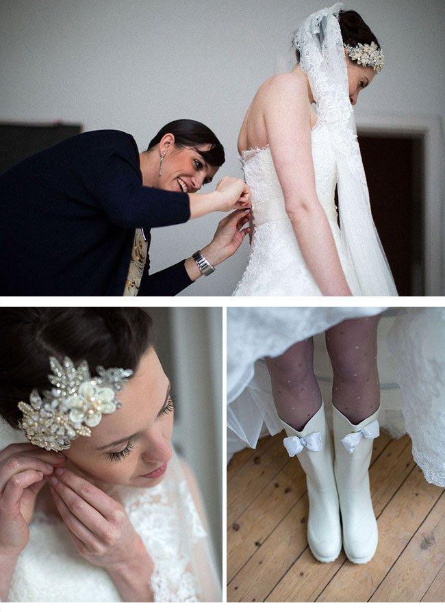Die schöne Braut Alex Blake liebt ihren hübschen Bräutigam