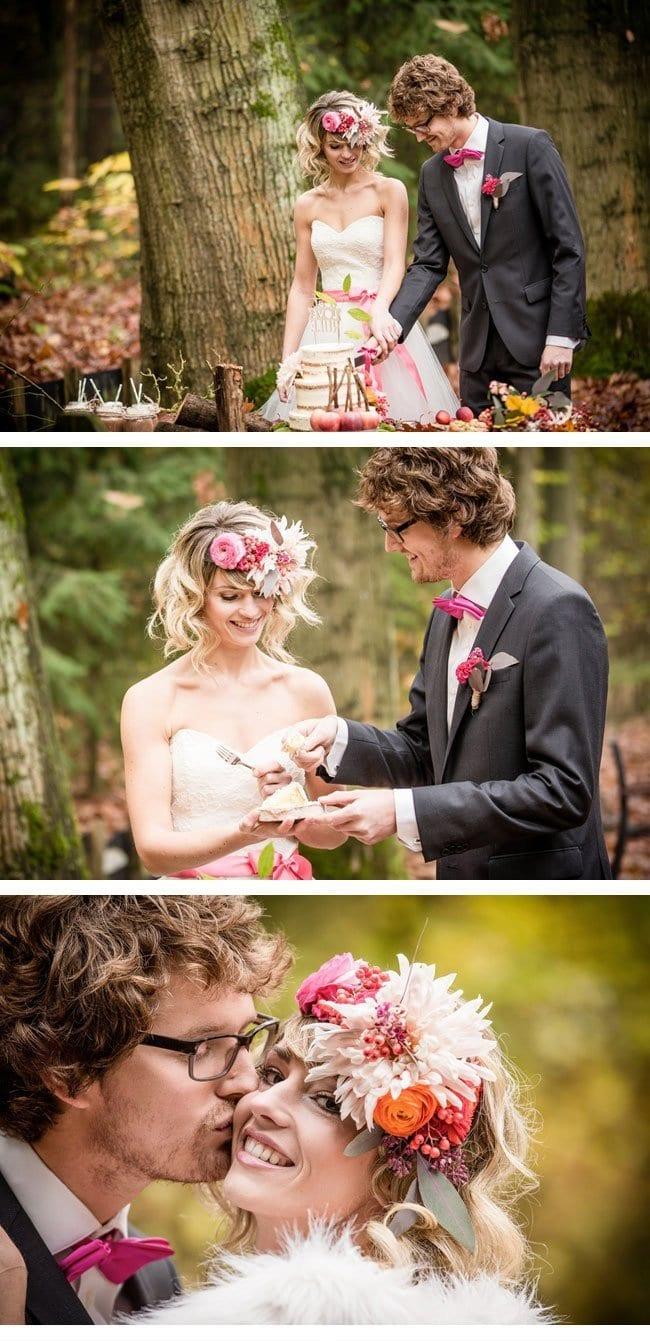 herbst waldshooting5-Hochzeitstorte