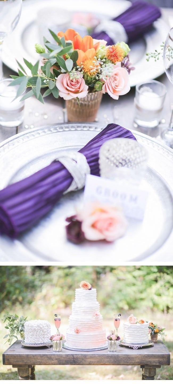 peach purple5-desserttisch