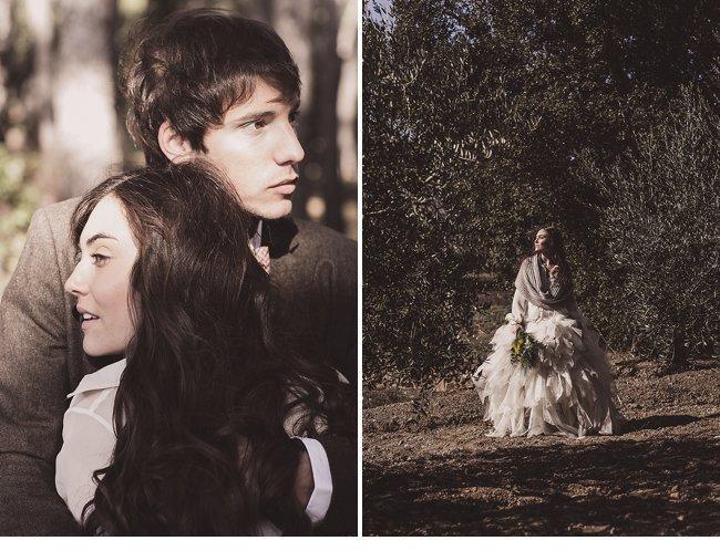 mediterranean forest wedding shoot 0009