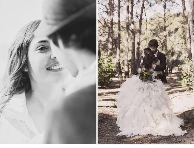 mediterranean forest wedding shoot 0016