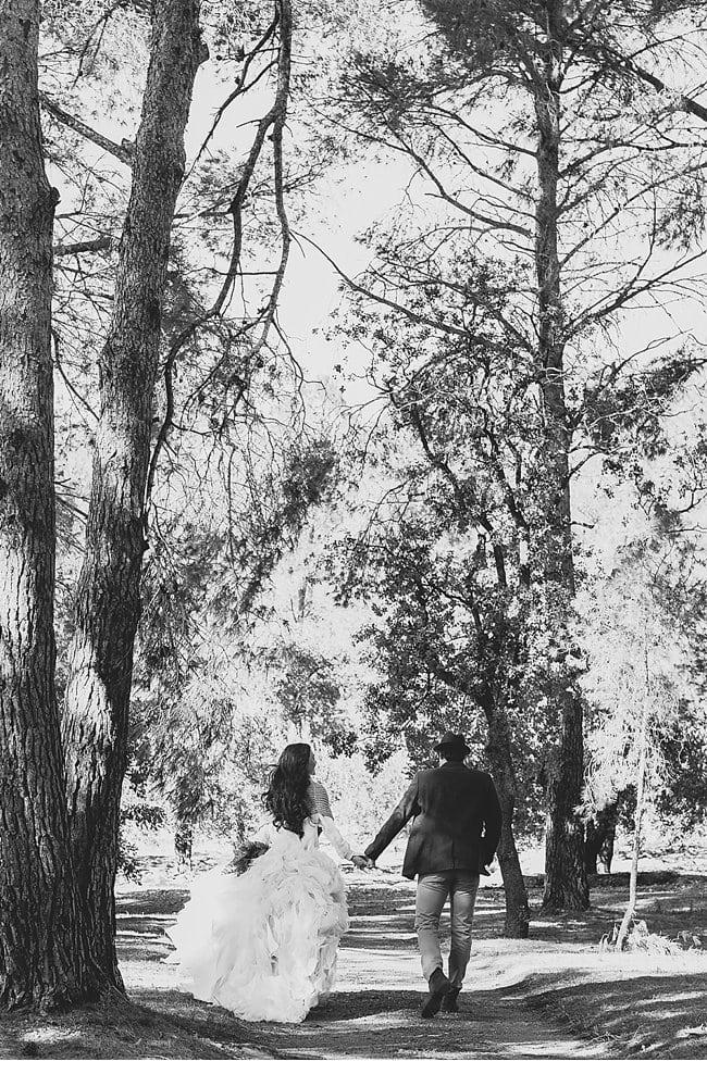 mediterranean forest wedding shoot 0017