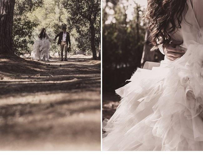 mediterranean forest wedding shoot 0018