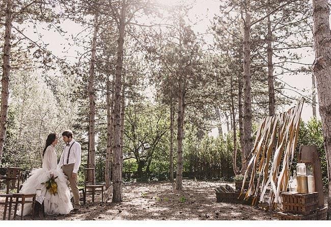mediterranean forest wedding shoot 0025