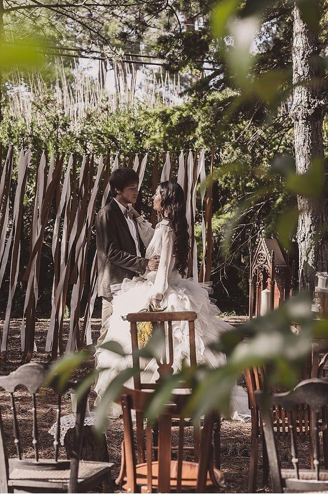mediterranean forest wedding shoot 0027