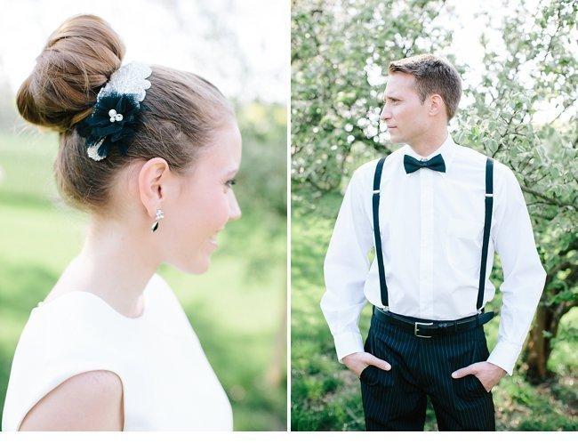 black white wedding inspiration 0003