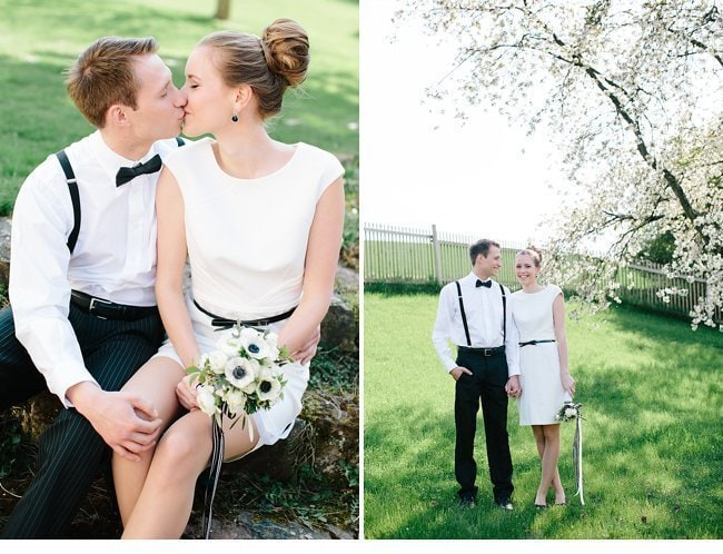 black white wedding inspiration 0006