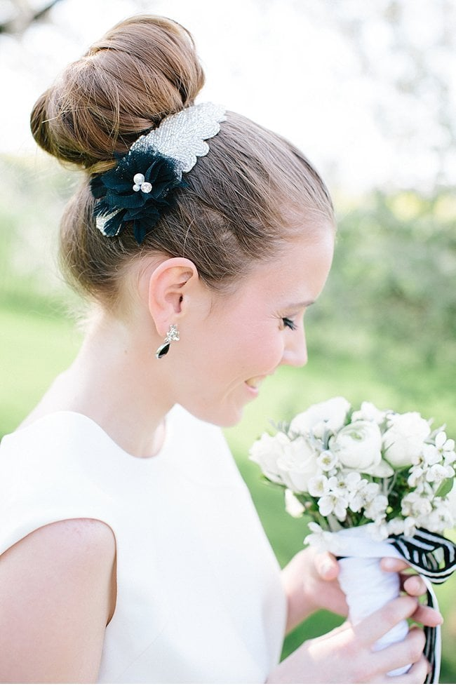 black white wedding inspiration 0008