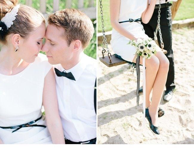 black white wedding inspiration 0009