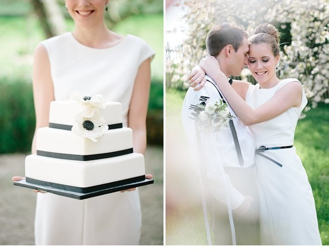 black white wedding inspiration 0010