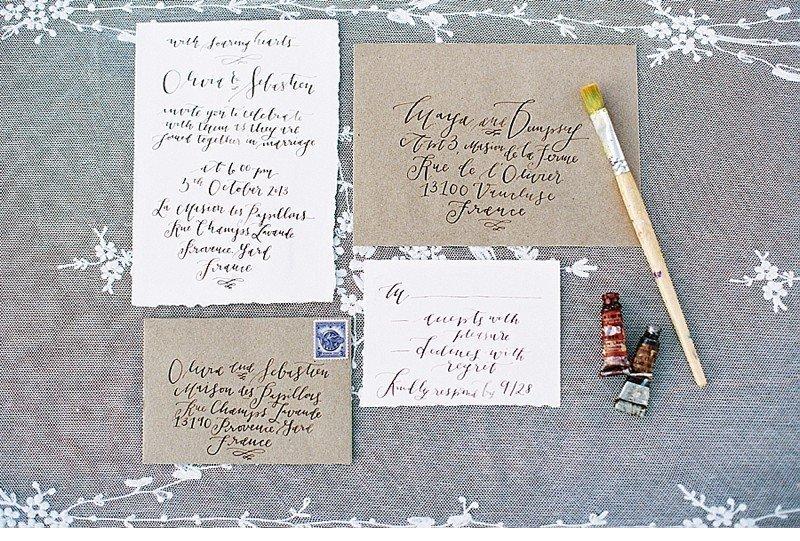 calligraphy wedding invitation 0018