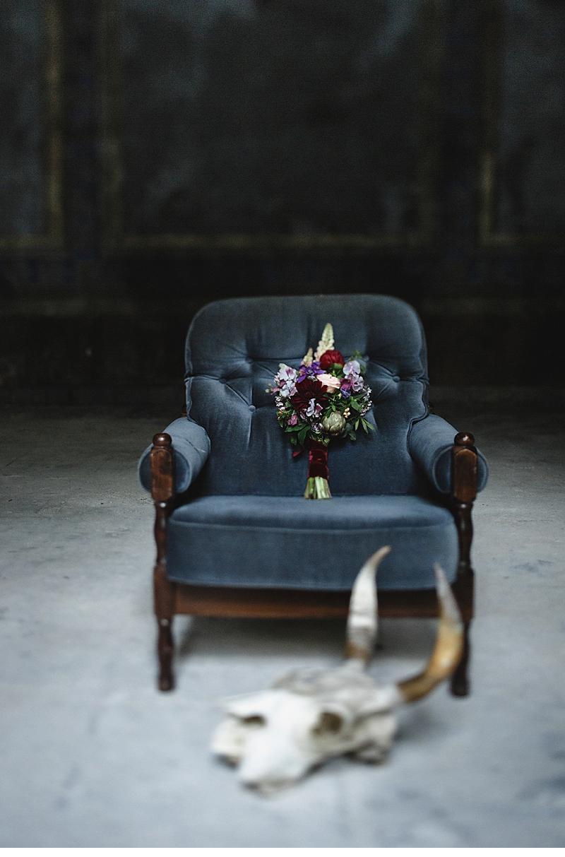 flowers and bones wedding inspirations 0003