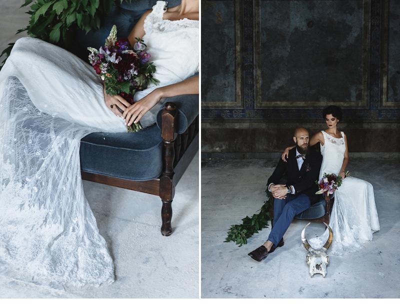 flowers and bones wedding inspirations 0004