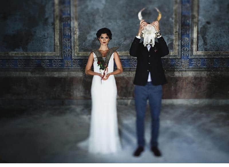 flowers and bones wedding inspirations 0007