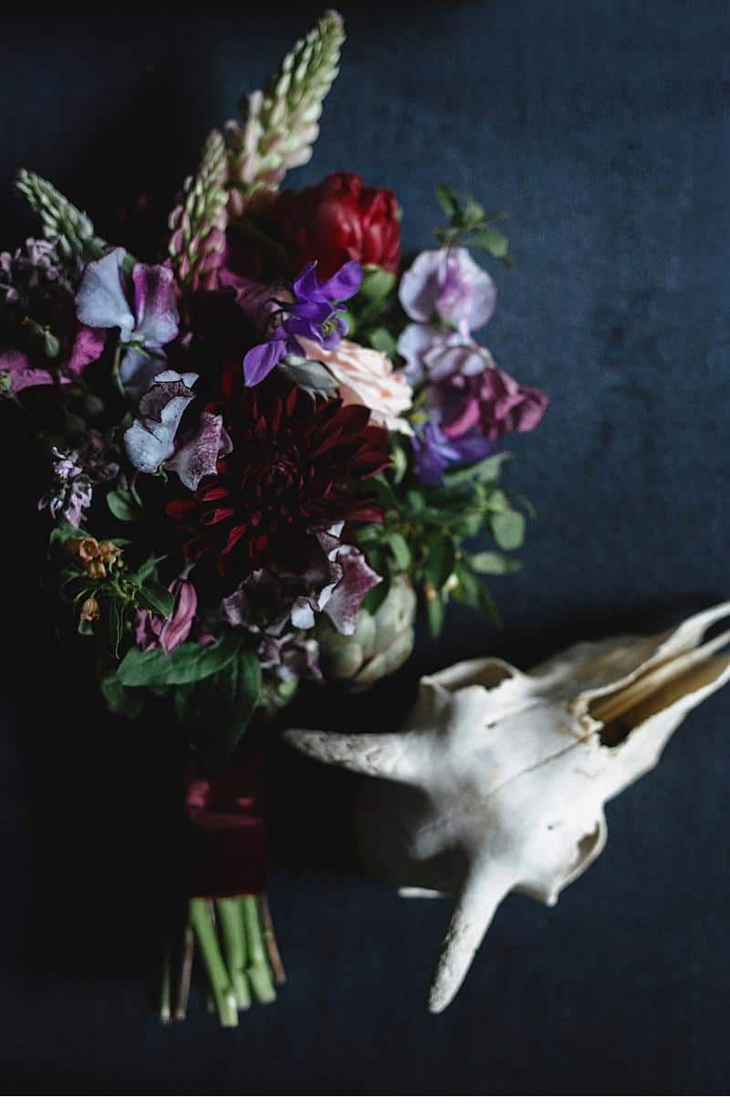 flowers and bones wedding inspirations 0008
