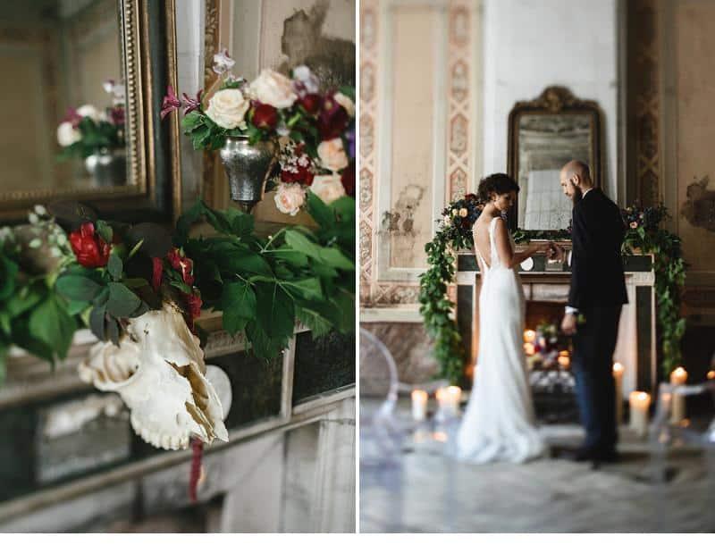 flowers and bones wedding inspirations 0014