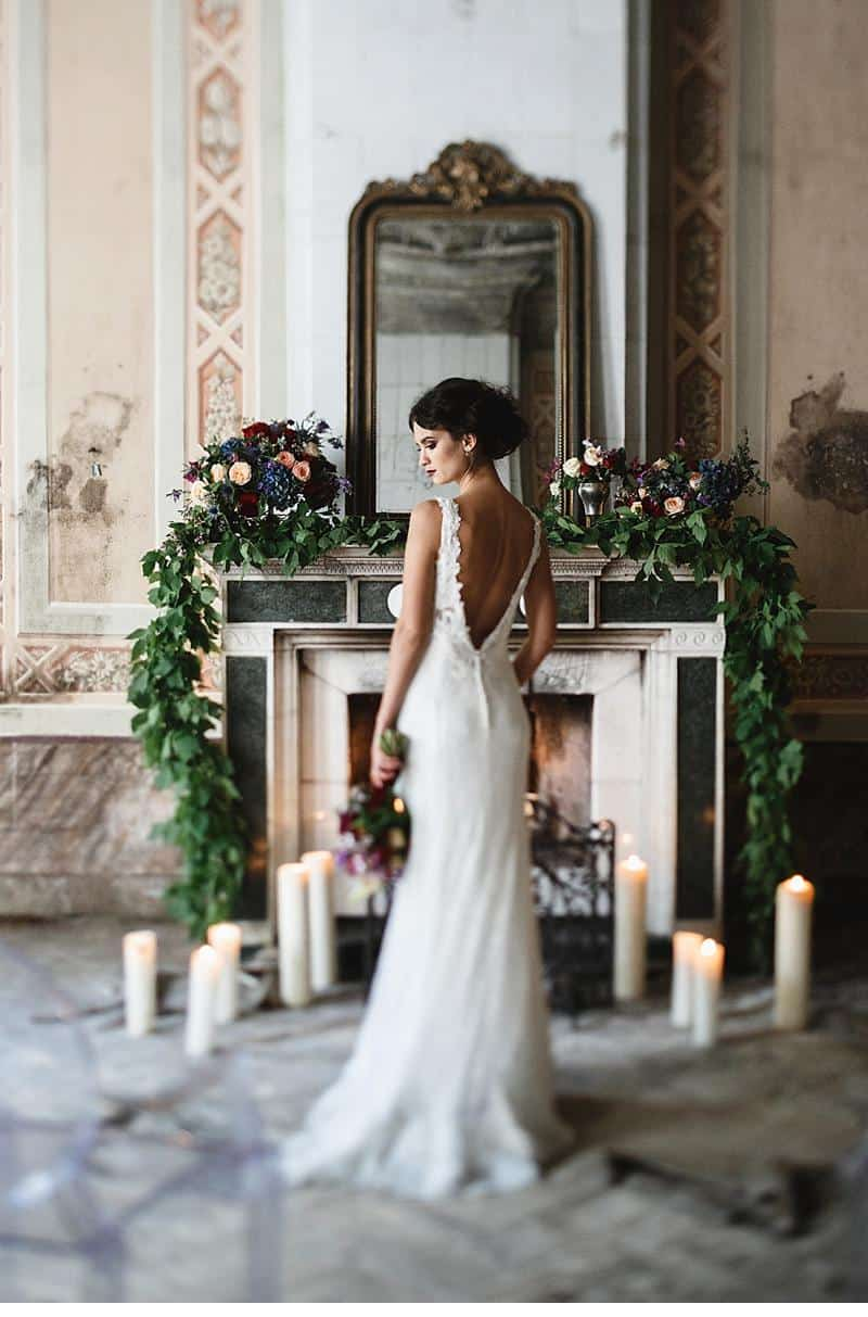 flowers and bones wedding inspirations 0016a