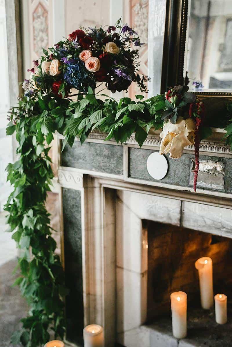 flowers and bones wedding inspirations 0017