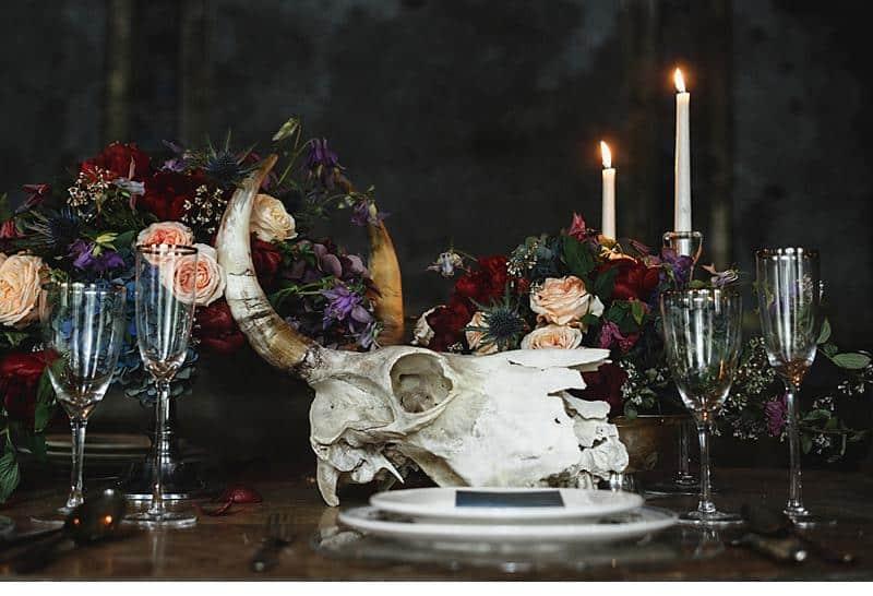 flowers and bones wedding inspirations 0022