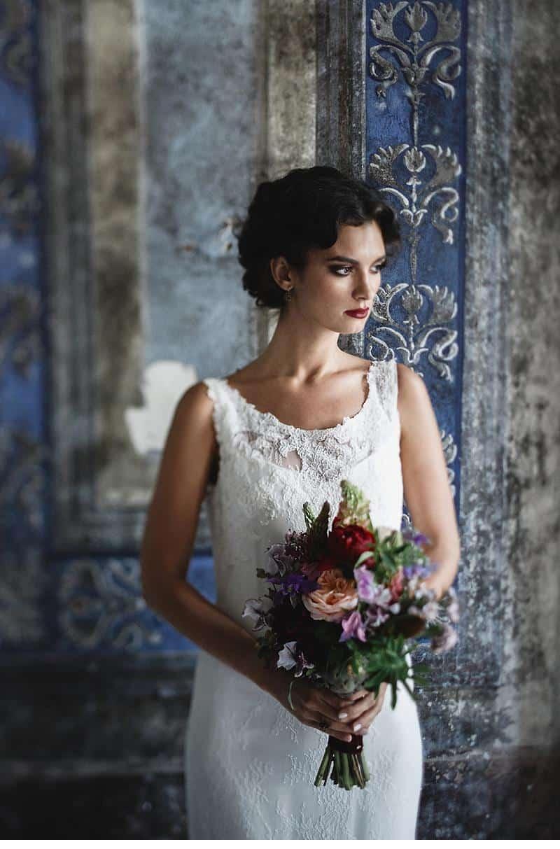 flowers and bones wedding inspirations 0035
