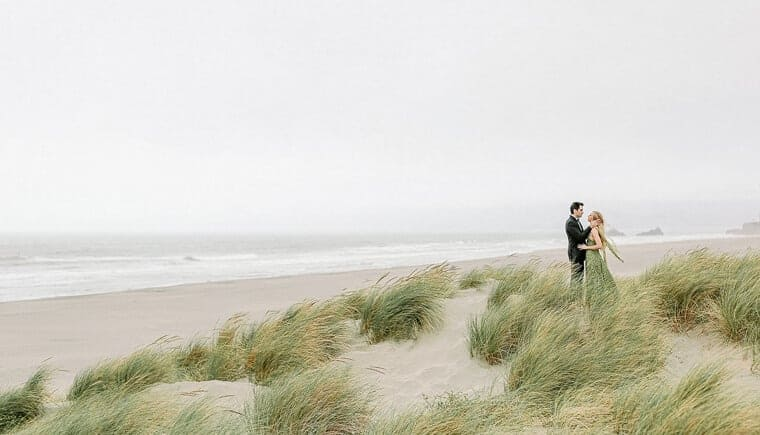 After Wedding Session am Strand von San Francisco