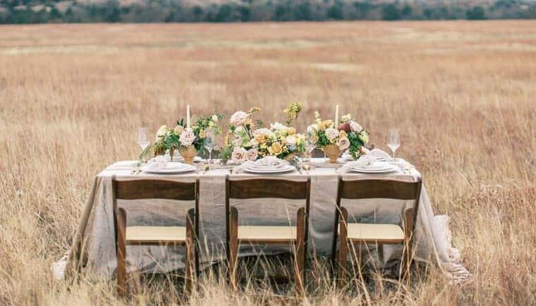Intime Hochzeitsinspirationen in der Wildnis