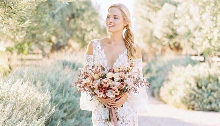 Verträumte Bio-Mikro-Hochzeitsinspirationen in Griechenland