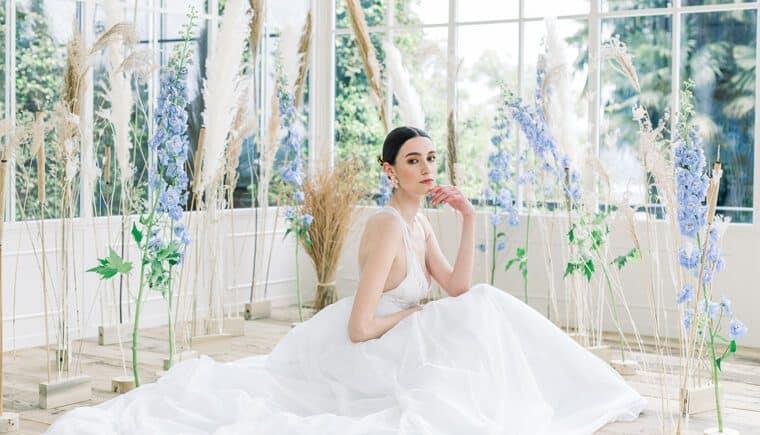 Von Monets Seerosen inspirierte Hochzeitsvisionen