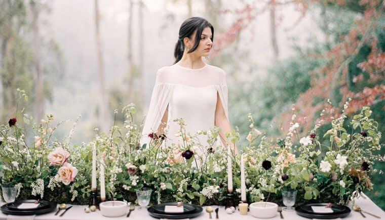 Architektonisch und Wabi-Sabi inspirierte Hochzeitsvisionen